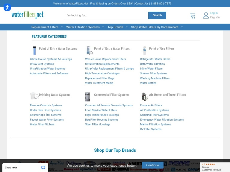 waterfilters.net screenshot