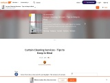 Curtain Cleaning Services – Tips to Keep In Mind