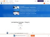 Link Building Campaign – Things to Know