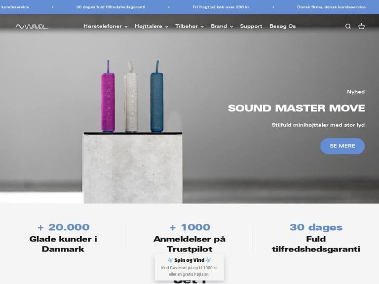 Wavell.dk skærmbillede