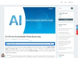 AI: Drives Sustainable Manufacturing