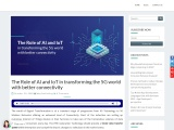 The Role of AI and IoT in transforming the 5G world with better connectivity