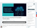 Role of Cloud Computing in driving Digital Transformation