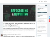 The war of Mobile App Rewriting and Refactoring to modernize legacy apps!