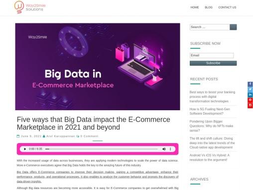 Big Data impact in eCommerce Marketplace