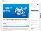 How Predictive Analytics helps to make better decisions