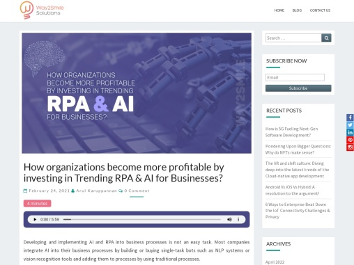 Role of RPA & AI technologies in making the business profitable