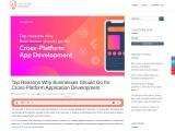 Benefits of Cross-platform application development