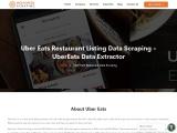 Uber Eats Restaurant Data Scraping Services