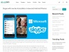 Skype Will Now Be Accessible On Low-end Android Phones