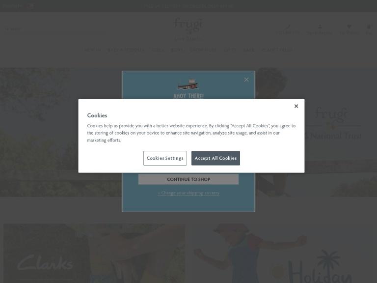 Frugi Free Delivery screenshot