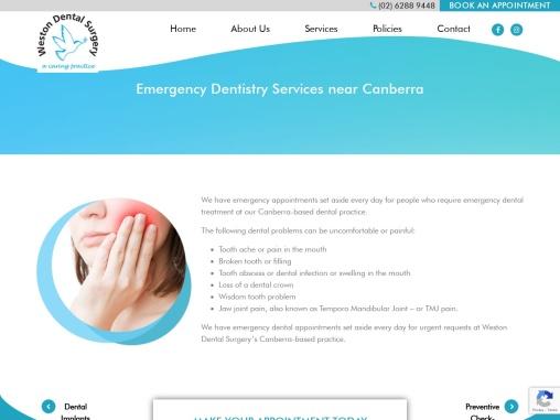 Canberra Emergency Dentist   Weston Dental Surgery