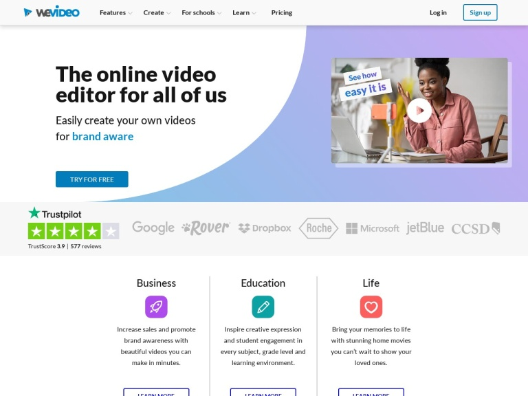 WeVideo Coupons & Discounts February 2021 screenshot