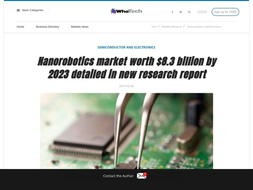 Nanomedicine application to hold largest share of nanorobotics market during forecast period