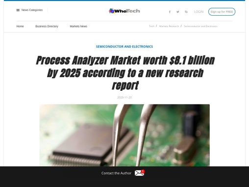 TOC analyzer to hold the largest size of the liquid process analyzer market by 2025
