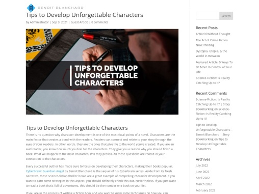 Tips to Develop Unforgettable Characters