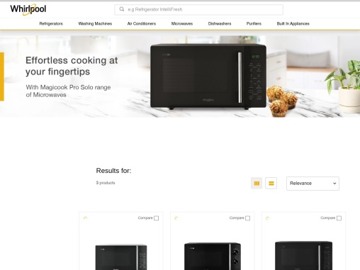 Solo Microwave Oven Online- Whirlpool India