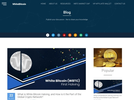 Our Blog – White Bitcoin (WBTC) Cryptocurrency