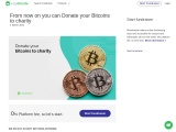 Donating Bitcoins To Charity Now Possible! Register For Free.