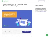 Donation Site – How To Make A Good Website For A Charity?