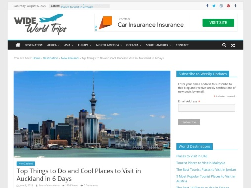 Cool Things to See in Auckland, NZ