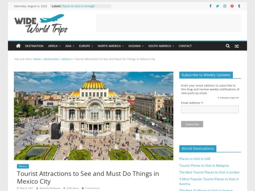 Beautiful Sightseeing Places to Visit in Mexico City