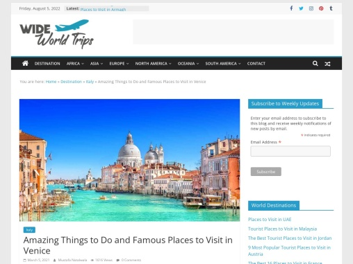 Sightseeing Places to Visit in Venice, Italy