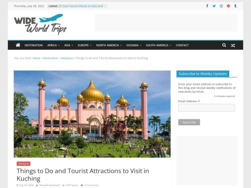 Best Tourist Places to Visit in Kuching