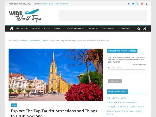 Top Tourist Places to Visit in Novi Sad