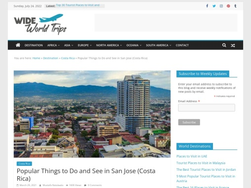 Famous Things to See in San Jose (Costa Rica)