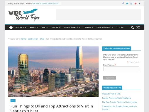 Cool Tourist Spots to Visit in Santiago