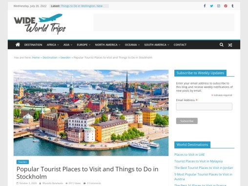 Tourist Attractions to Visit in Stockholm