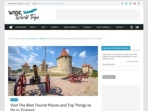 Popular Tourist Attractions to Visit in Tiraspol