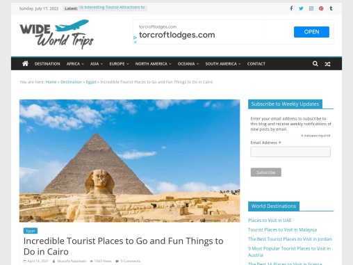Top Tourist Places to See in Cairo, Egypt
