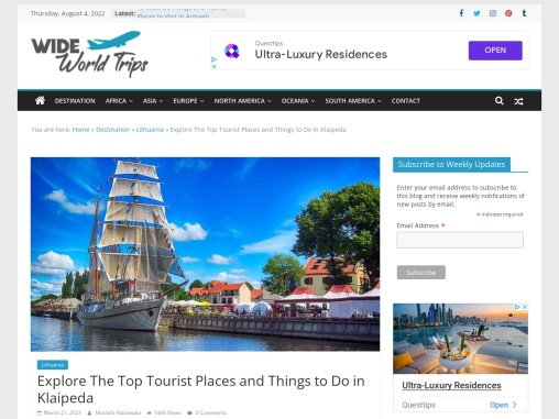 Visit Top Attractions in Klaipeda, Lithuania