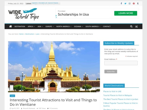 Famous Sightseeing Places to Visit in Vientiane