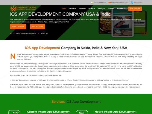 iOS App Development Company in India & USA   WIE SOFTWARE
