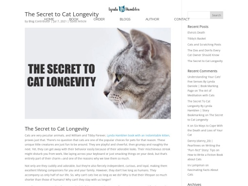 The Secret to Cat Longevity By Lynda Hamblen