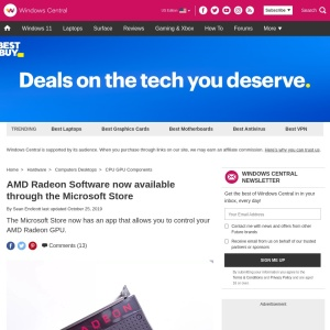 AMD Radeon Software now available through the Microsoft Store | Windows Central