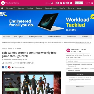 Epic Games Store to continue weekly free game through 2020 | Windows Central