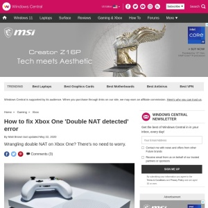 How to fix Xbox One 'Double NAT detected' error | Windows Central