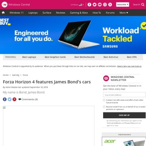 Forza Horizon 4 features James Bond's cars | Windows Central