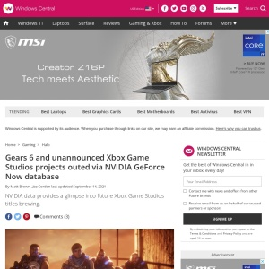 Gears 6 and unannounced Xbox Game Studios projects outed via NVIDIA GeForce Now database | Windows Central