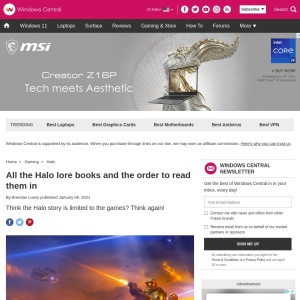 9 Halo books you need to read | Windows Central