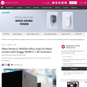 Xbox Series X, NVIDIA GPUs may hit black screen with buggy HDMI 2.1 AV receivers | Windows Central