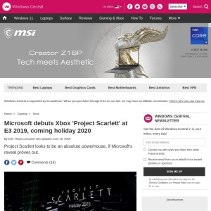 Microsoft debuts Xbox 'Project Scarlett' at E3 2019, coming holiday 2020 | Windows Central