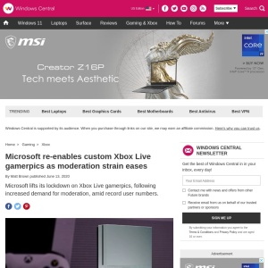 Microsoft re-enables custom Xbox Live gamerpics as moderation strain eases | Windows Central