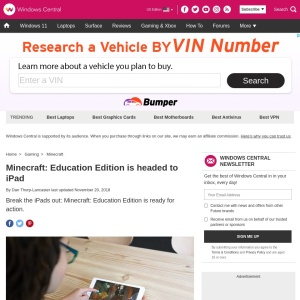 Minecraft: Education Edition is headed to iPad | Windows Central