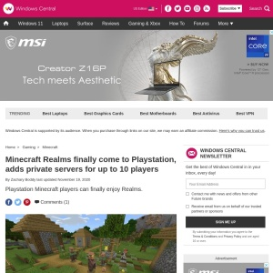 Minecraft Realms finally come to Playstation, adds private servers for up to 10 players | Windows Central