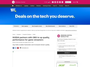 NVIDIA partners with OBS to up quality, performance for game streamers | Windows Central